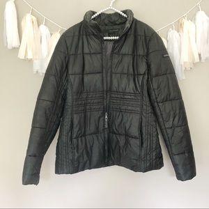 Calvin Klein Black Puffer Quilted Winter Jacket